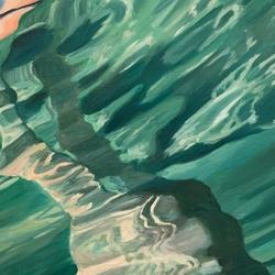 underwater figure painting